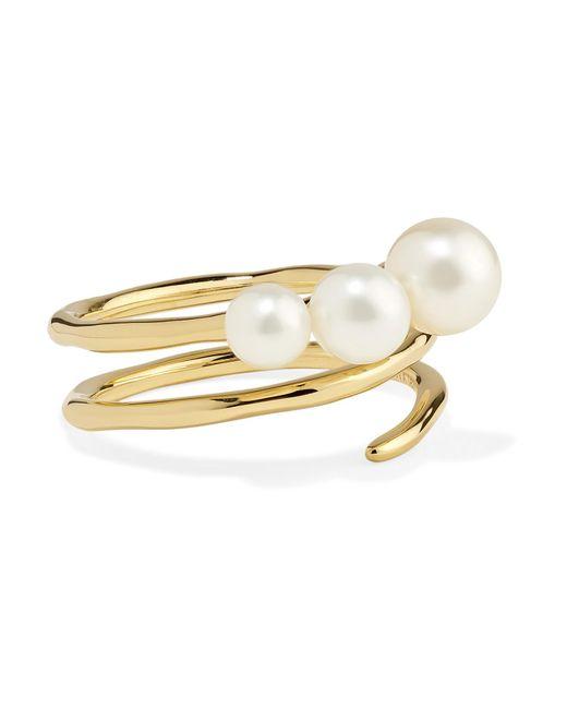 Ippolita - Metallic Nova 18-karat Gold Pearl Ring Gold 7 - Lyst