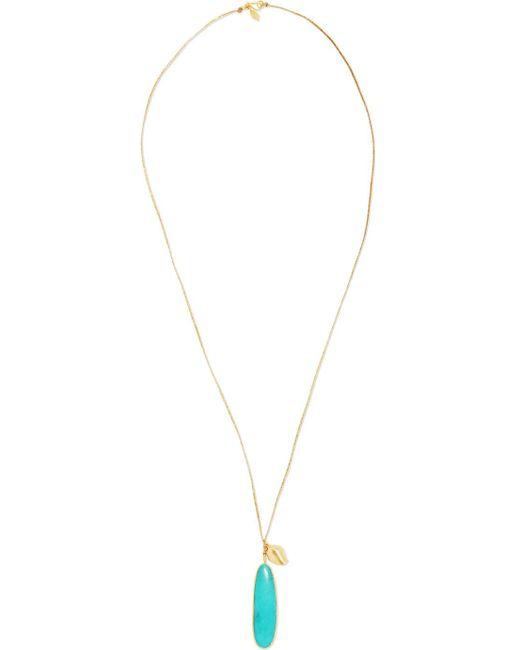 Pippa Small - Metallic 18-karat Gold Turquoise Necklace - Lyst