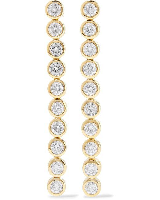 Jennifer Meyer - Metallic 18-karat Gold Diamond Earrings - Lyst