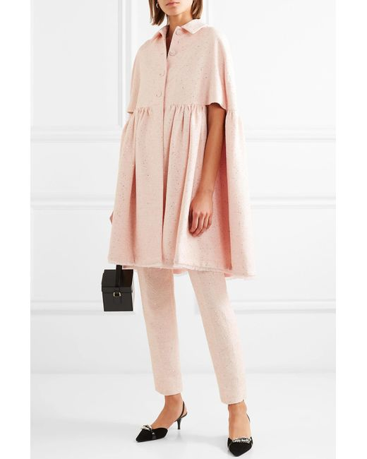 Rose Cape Sequined Lela in Lyst Tweed Pink tqwxpda