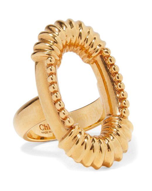 Chloé   Metallic Exclusive Gold-tone Ring   Lyst