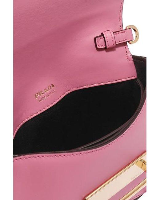 Sac Ceinture En Cuir Bicolore Sidonie Prada en coloris Pink