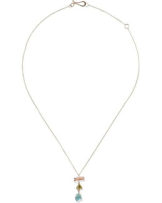 Melissa Joy Manning - Metallic 14-karat Gold Multi-stone Necklace - Lyst