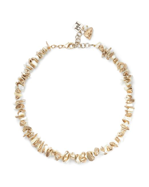 Rosantica - Metallic Gold-tone Mother-of-pearl Necklace - Lyst