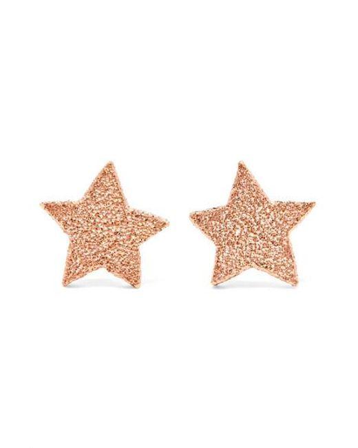 Carolina Bucci Metallic Superstellar 18-karat Rose Gold Earrings