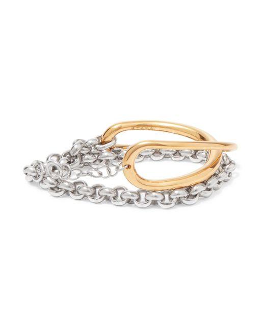 Charlotte Chesnais Initial Gold Vermeil And Silver Bracelet PVG3CK