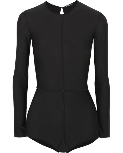 Shopping Online Clearance Store Cheap Price Open-back Stretch-jersey Bodysuit - Black Ann Demeulemeester Cheap Sale Outlet tjNFfGY