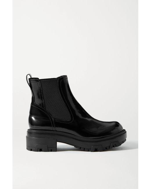Rag & Bone Black Shaye Patent-leather Chelsea Boots