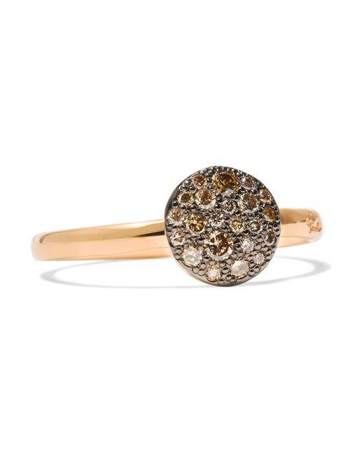 Pomellato - Metallic Sabbia 18-karat Rose Gold Diamond Ring - Lyst