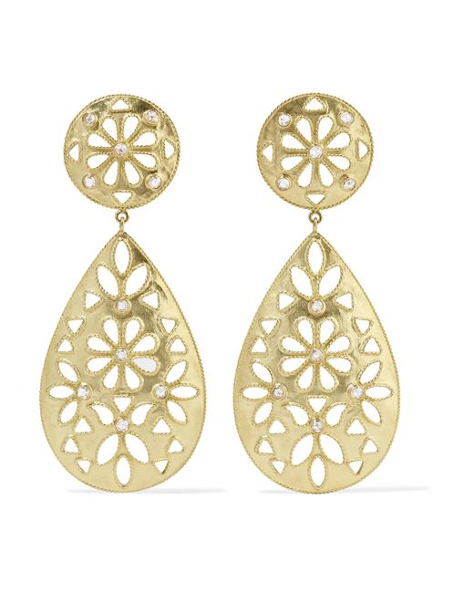 Amrapali - Metallic Shevanti 18-karat Gold Diamond Earrings - Lyst