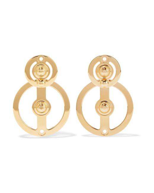 Marni   Metallic Gold-plated Earrings   Lyst