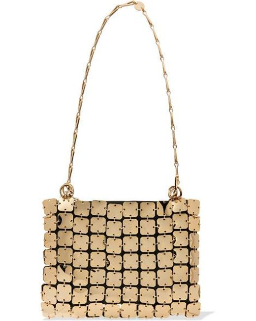 Paco Rabanne Metallic Square 1969 Chainmail And Leather Shoulder Bag