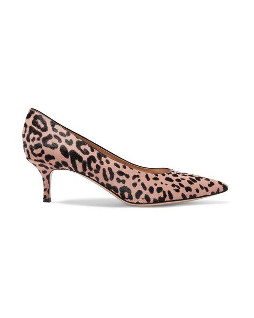 3b530b240116 Gianvito Rossi - Brown 55 Leopard-print Calf Hair Pumps - Lyst ...