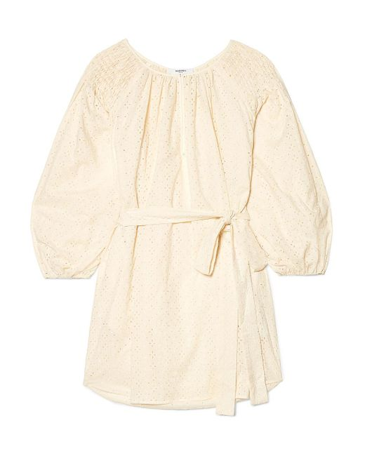 Marysia Swim - Natural San Salvador Broderie Anglaise Cotton Mini Dress - Lyst