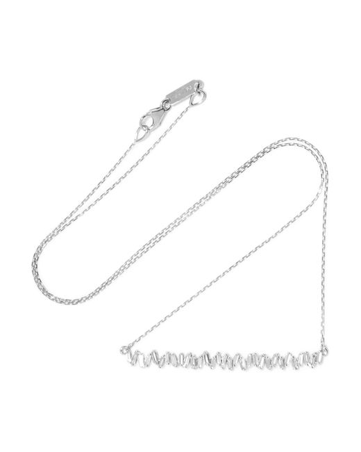 Suzanne Kalan - Metallic 18-karat White Gold Diamond Necklace - Lyst