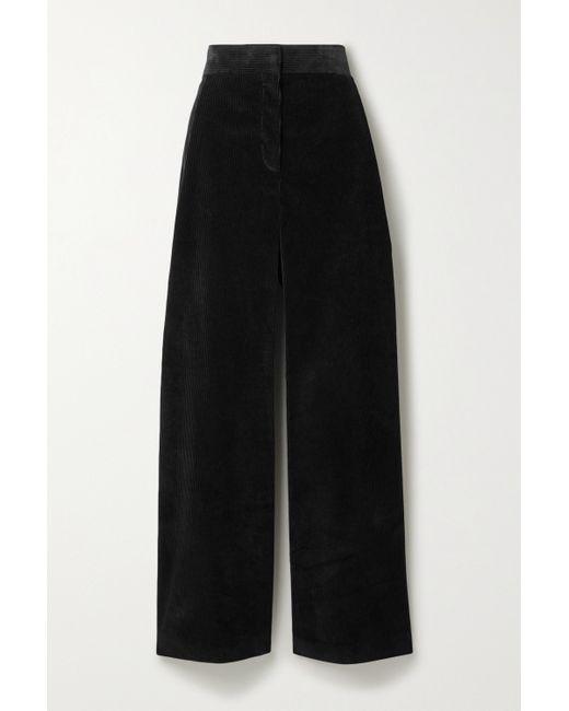 The Row Black Caylan Hose Mit Weitem Bein Aus Baumwollcord