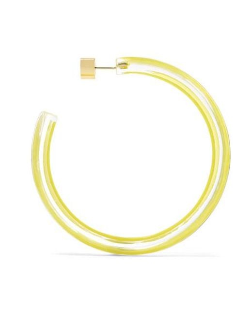 43829e99bb9e6 Alison Lou Large Jelly Hoop Earrings in Yellow - Save 23% - Lyst