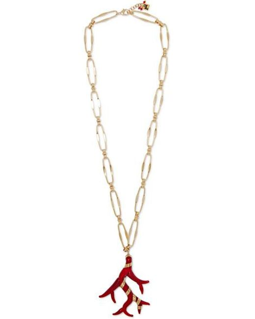 Rosantica Metallic Isola Gold-tone And Resin Necklace