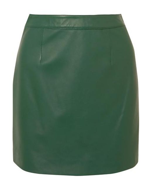 ed0897706 AlexaChung - Green B-line Leather Mini Skirt - Lyst ...