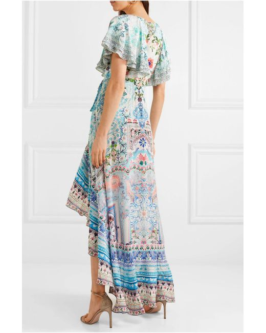 The Long Way Home Printed Silk Crepe De Chine Maxi Dress - Sky blue Camilla Free Shipping Low Shipping Clearance Manchester Great Sale Great Deals Online OCnco4ltH