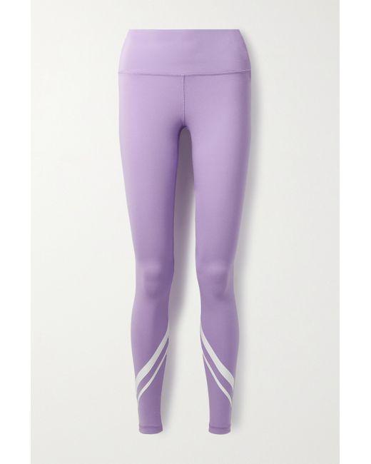 Tory Sport Purple Stretch-leggings Mit Print