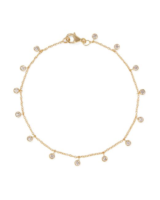 Jennifer Meyer - Metallic 18-karat Gold Diamond Bracelet Gold One Size - Lyst