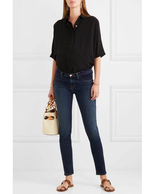 02569de35d6ad ... J Brand - Blue Mama J Mid-rise Skinny Maternity Jeans - Lyst ...