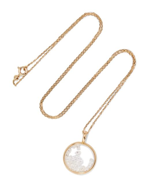 Aurelie Bidermann | Metallic Baby Chivor 18-karat Gold Diamond Necklace | Lyst