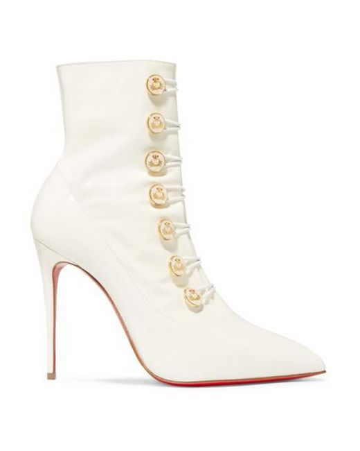 best cheap a523c 5287e Women's White Liossima 100 Patent-leather Ankle Boots