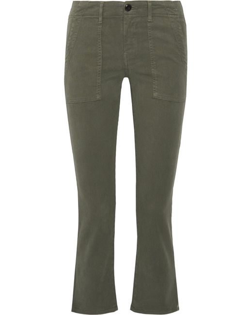 The Great | Green The Army Nerd Cropped Stretch-twill Skinny Pants | Lyst