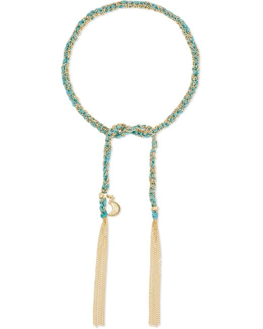 Carolina Bucci - Metallic Wisdom Lucky 18-karat Gold And Silk Bracelet - Lyst