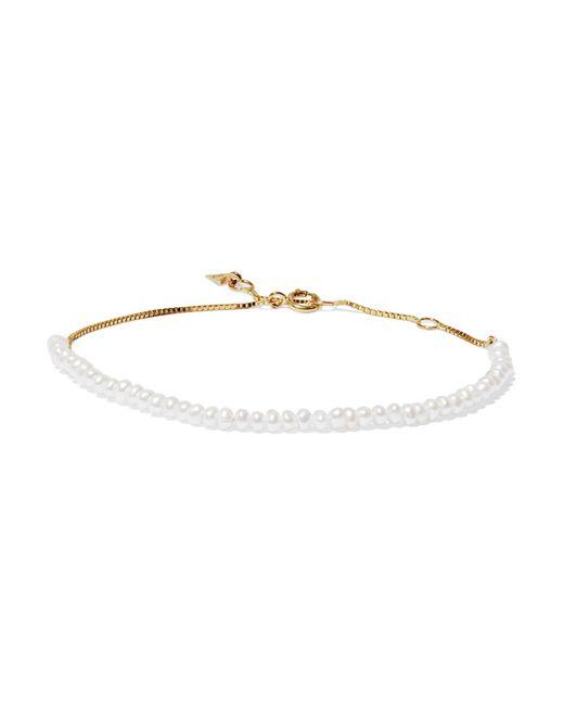 Loren Stewart | Metallic 10-karat Gold Pearl Bracelet | Lyst