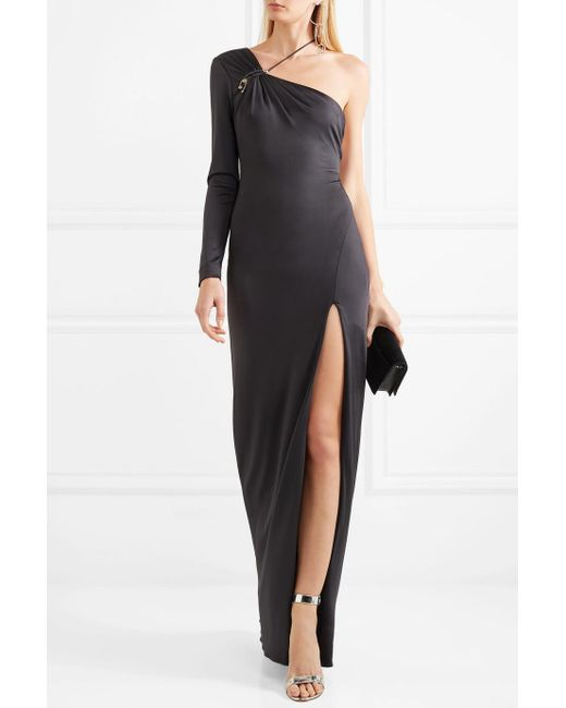 Leonora One-shoulder Embellished Satin-jersey Gown - Dark gray Cushnie et Ochs New Styles Sale Online 2018 Newest Online Cheap Price Buy Discount Cheap 100% Original jvEFa