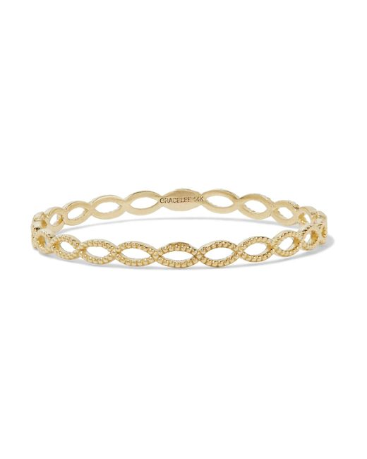 Grace Lee | Metallic Eternity 14-karat Gold Ring | Lyst