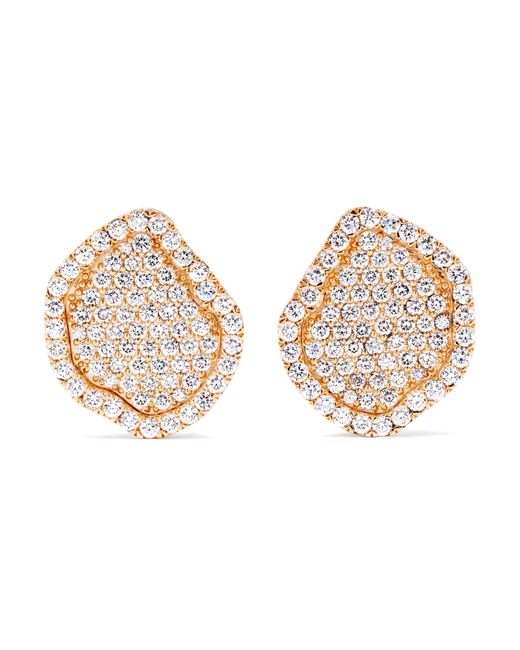 Kimberly Mcdonald - Metallic 18-karat Rose Gold Diamond Earrings - Lyst
