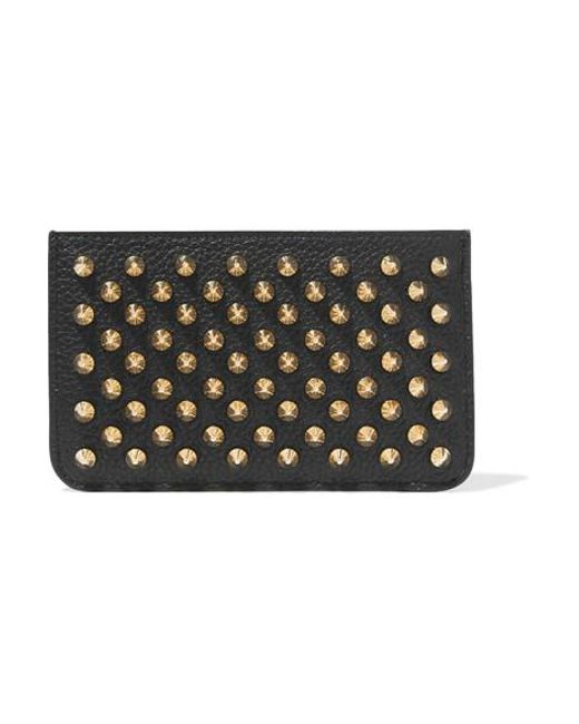 4658de665e0 Women's Black Panettone Spiked Textured-leather Pouch