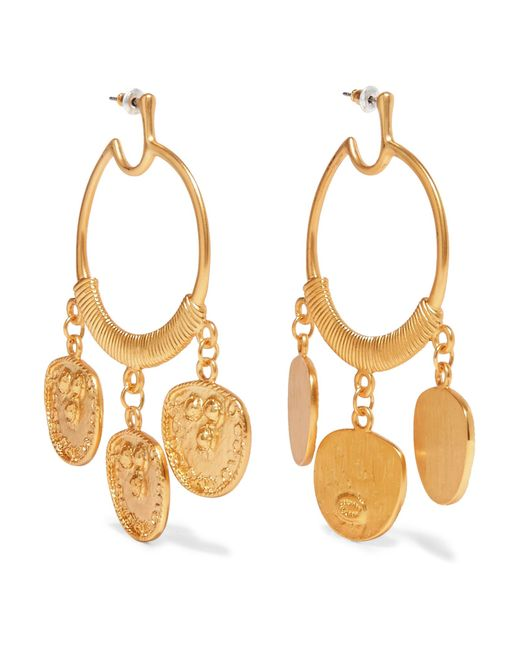 Kenneth Jay Lane - Metallic Gold-plated Earrings Gold One Size - Lyst