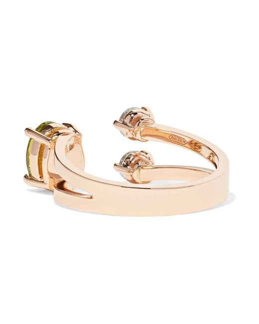 18-karat Gold, Peridot And Aquamarine Ring - 4 Delfina Delettrez