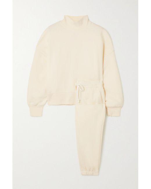 Rails Natural Blaire Cotton-blend Jersey Sweatshirt And Track Pants Set