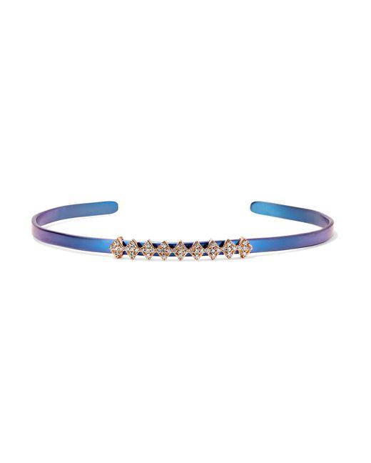 Diane Kordas - Metallic Titanium, 18 Karat Rose Gold And Diamond Bracelet - Lyst