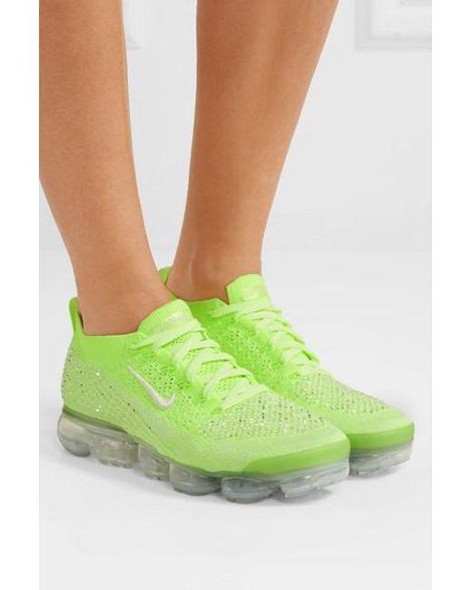 971ded745d1b4 ... Nike - Green Air Vapormax 2 Swarovski Crystal-embellished Flyknit  Sneakers - Lyst ...