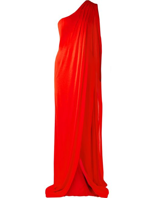 Tom Ford - Red One-shoulder Draped Jersey Gown - Lyst