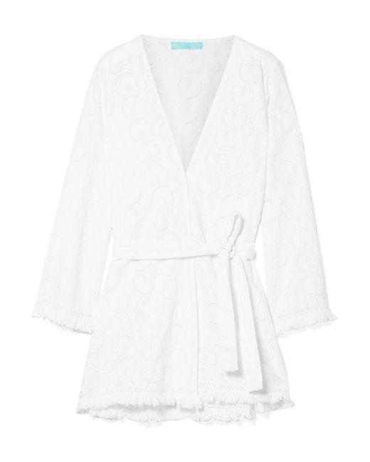 Melissa Odabash - White Pippa Frayed Broderie Anglaise Cotton Kimono - Lyst