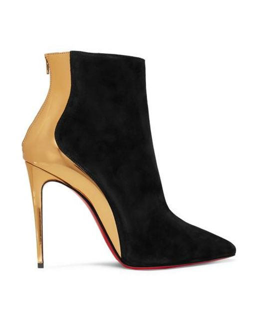 super popular 69006 19d18 Women's Black Delicotte 100 Suede And Mirrored-leather Ankle Boots