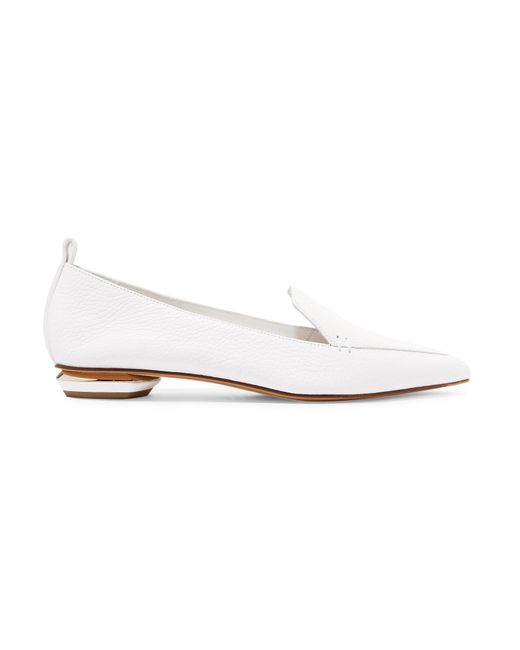Nicholas Kirkwood - White Beya Leather Loafers - Lyst