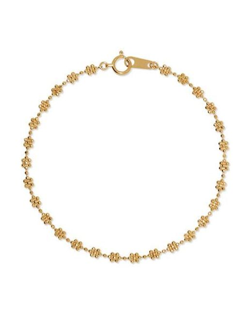 POPPY FINCH Metallic 18-karat Gold Bracelet