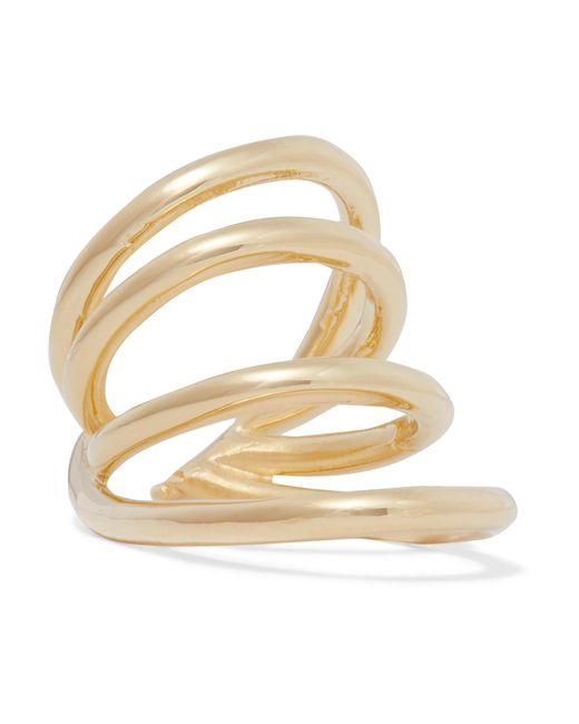 Jennifer Fisher | Metallic Overlap Circle Gold-plated Pinky Ring | Lyst