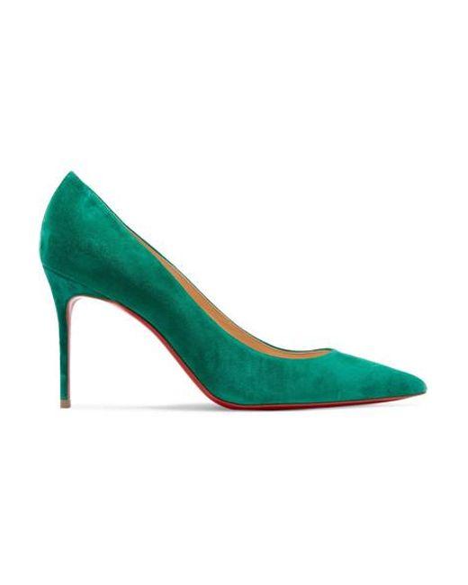 Escarpins En Daim Décolleté 554 85 Christian Louboutin en coloris Green