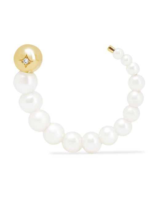 Yvonne Léon - Metallic 18-karat Gold, Diamond And Pearl Earring - Lyst