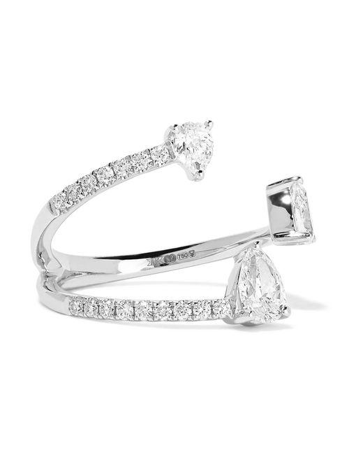 Anita Ko | Pear Saturn 18-karat White Gold Diamond Ring | Lyst